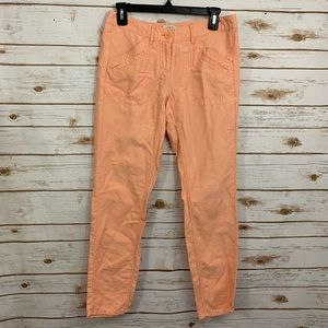 Loft Peach Linen Blend Causal Summer Pants